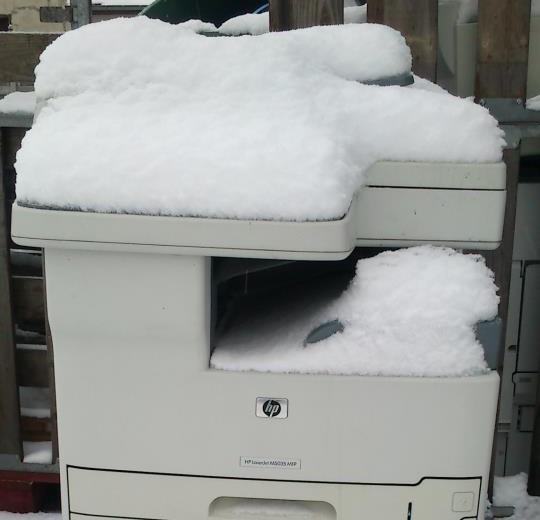 Un copieur sous la neige
