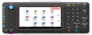 Ricoh - Personalisation de l'écran