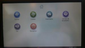 Ricoh - Programmation - Ecran d'accueil