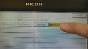 Ricoh - Programmation - Programme sur acceuil